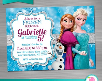 Frozen invitation etsy solutioingenieria