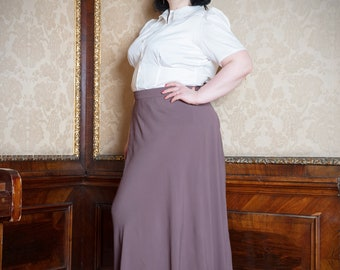 Doreen-Elegant skirt in the style of the 30s years plus size