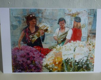 Greeting Card Maderia Flower Sellers