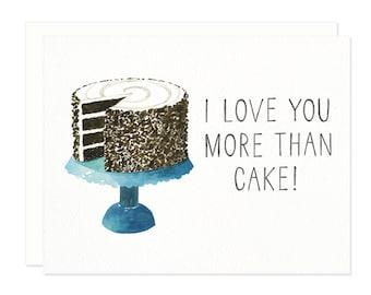 I Love You Cake Greeting Card