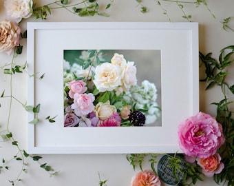 Flower Botanical Print Photograph Pastel 8 x 10 Floral