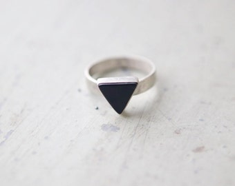 the Black Onyx Triangle ring