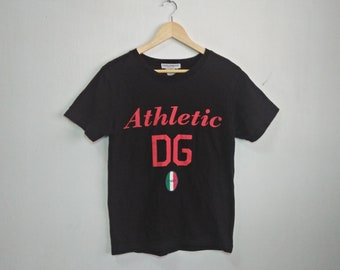 Vintage Dolce & Gabana Big Spell Out Logo T Shirt Designer Top Tee Urban Fashion Size XL