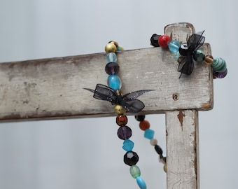 Children's Jewelry Accessories - Necklace and Bracelet, Multi-Colored or Brown Beads