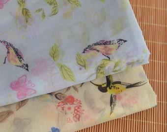 Birds Chiffon Fabric MJ433
