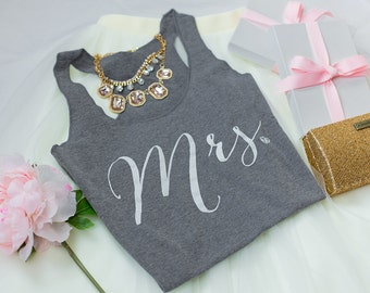 Mrs Tank, Bride Tank, Wife TankBridal Tank Top, Gifts for Bride to be, Wifey top, Bride Shirt, Bridal Shower Gift, Bachelorette Party