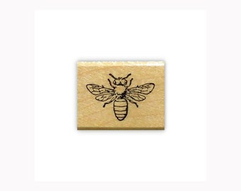 Honey Bee Mounted bug rubber stamp, summer, bug, bullet journal, planner, mail art, Sweet Grass Stamps - #9