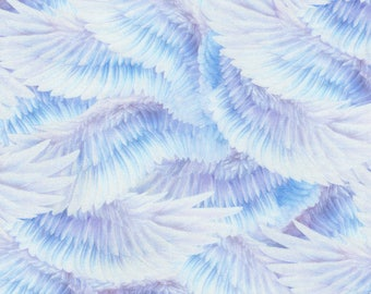 Pastel UnicornWings Digitally Printed Robert Kaufman #7156 By the Yard