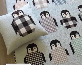 NEW Penguin Party Elizabeth Hartman Quilt Modern Pattern 3 Sizes
