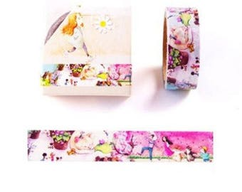 1 roll: 5 m of masking tape designs cats and children