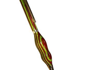 Red Green Double Bump Pen