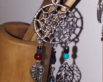N17 dream catcher Turquoises+ Hematite