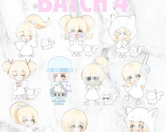 Batch 4 - Teeny and Bop 01 (Kawaii Planner Stickers)