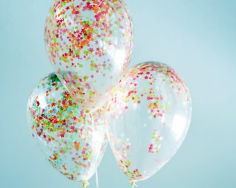 Air balloon set with confetti