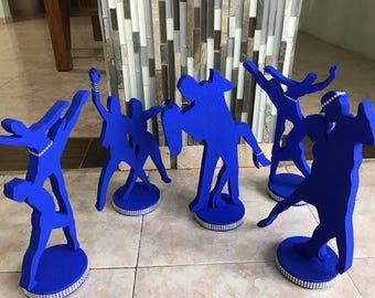 Mix Dancers Silhouette Centerpieces