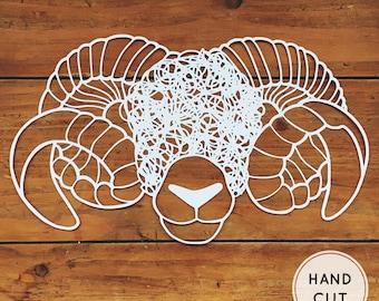 Sheep Papercut - Handcut