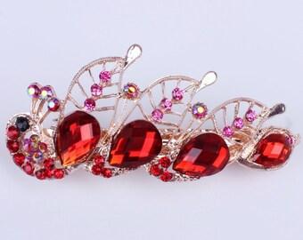 Vintage wedding hair clip rose gold Etsy