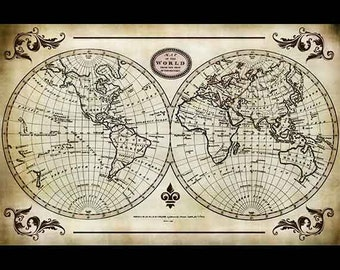 "World Map Collage Paper - 10 1/2"" x 16"" - CLPR0008"