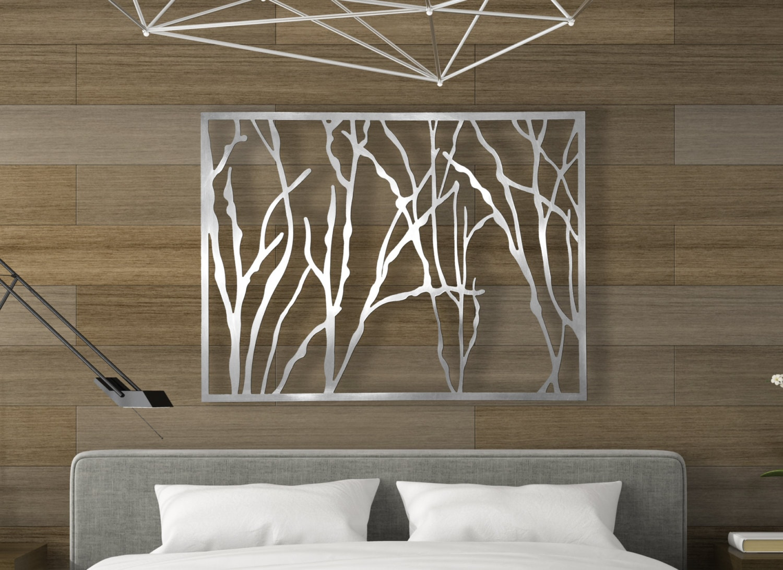 Branch metal decor wall art