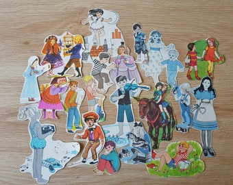Vintage Children Ephemera pack, Cut out illustrations