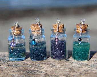 Sparkle Magic Bottle Necklace