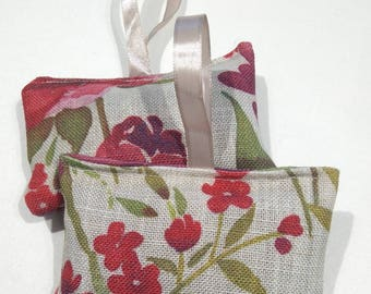 Two fabric lavender bags  |floral fabric | Mothers Day gift
