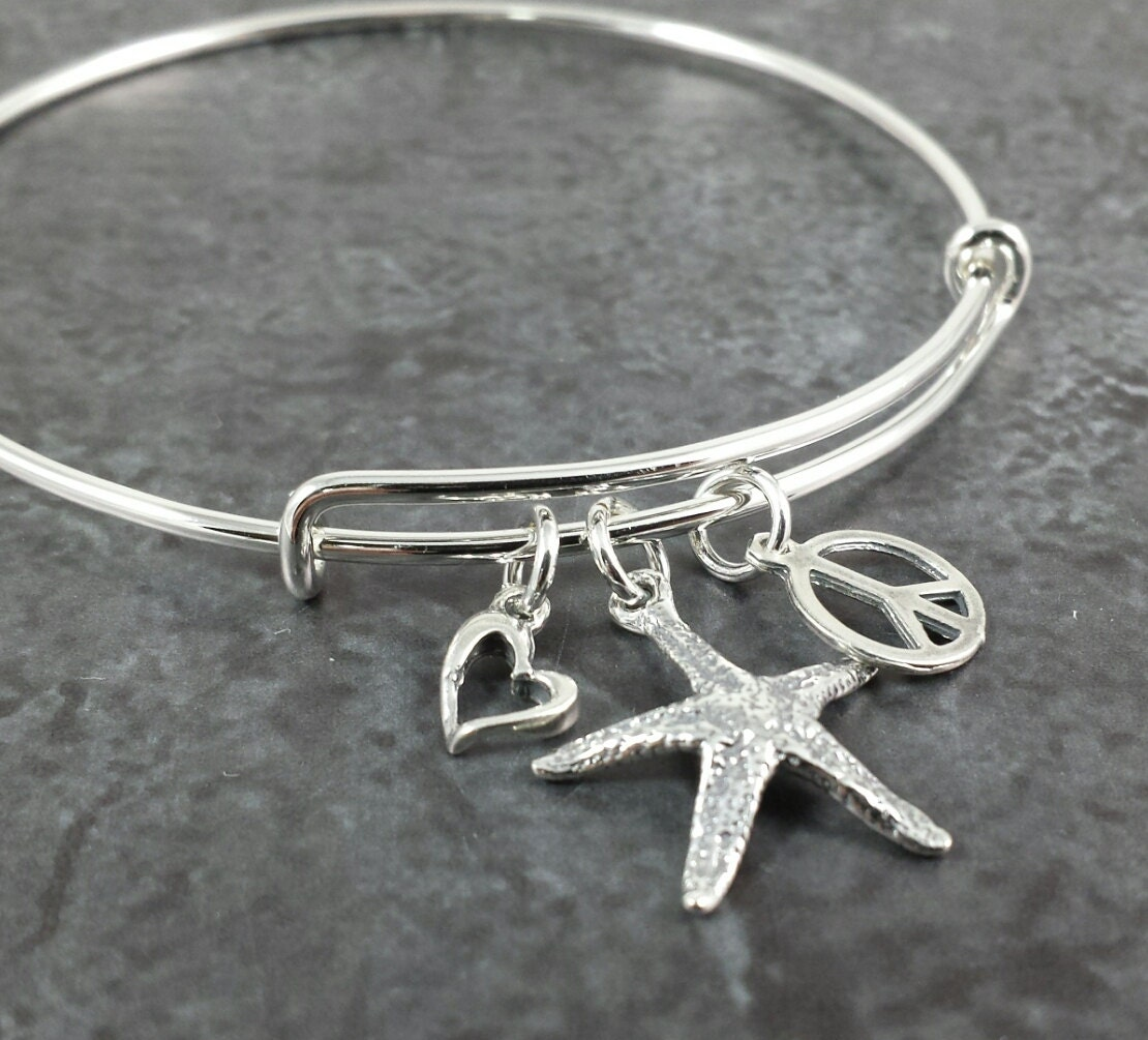 bracelets sterling jewelry bangle bangles pmr silver polished bling heart catch open bracelet