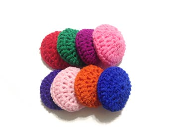 Assorted Crocheted Nylon Netting Dish Scrubbies-Mystery Lot Of Eight