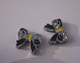 2 beads in shape of a butterfly with Rhinestones-(PV10-4)
