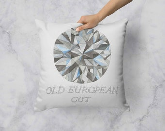 Old European Cut Diamond Pillow