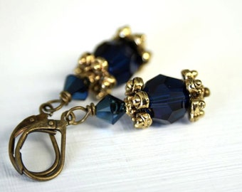 Blue Earrings Crystal Earrings Ready to Ship