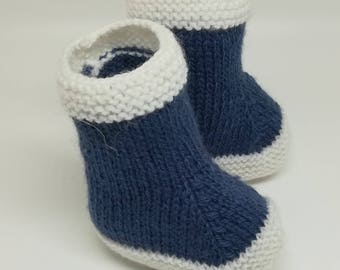 Sailor baby booties / / newborn booties