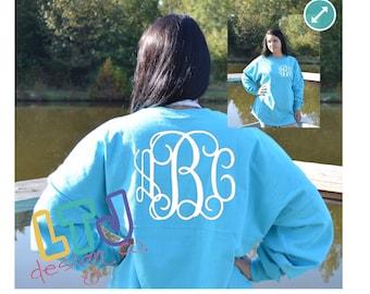 Personalized Pennant Billboard Crew Jersey ~ Custom Jersey ~ Monogrammed Spirit Shirt ~ Oversized Shirt ~ Team Shirt ~ Gifts for Her