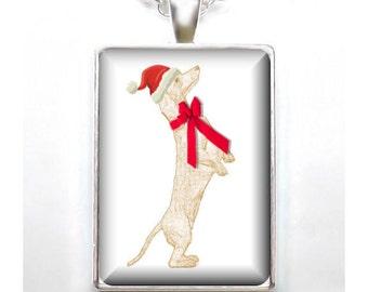 Christmas Dachshund / Doxie - Digital Art - Your Choice of Finish