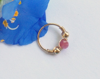 Nose hoop - Gold Filled Nose Ring - Gold Nose Hoop - Nose Jewelry - Nostril Hoop - Nose Piercing - Nose Earring - Nostril Jewelry