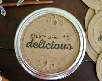 Mason Jar Labels, Jam Labels, Jar Stickers, Mason Jar Lid Inserts, Delicious Stickers, Jar Tags, Canning Jar Labels