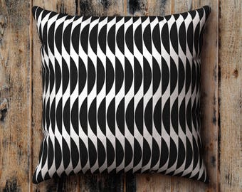 Black and White Pillow Case, Geometric Abstract Pattern Cushion Cover, Pillow Sham