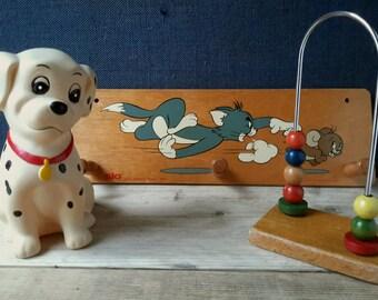 Baby room decor, kids room decor, wooden toys, 101 Dalmatians, toy, Walt Disney money box, vintage toys, kertcadeau, Disney