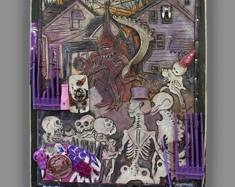 The Skeletons Watch the Purple People Eater