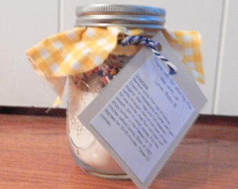 Cookie Mix Mason Jars - Cookie Mix Favor for Weddings, Bridal Showers, Baby Showers