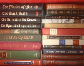 Set of 21 History Folio Society Books.  6 are missing slipcases