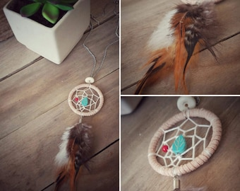 Beige Dream Catcher Necklace | Dream Catcher | Necklace | Gypsy Style