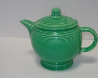 Original Vintage Fiestaware Light Green Medium Teapot with Lid