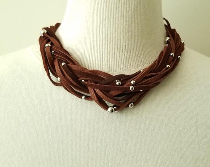 Milk Chocolate Braided Necklace