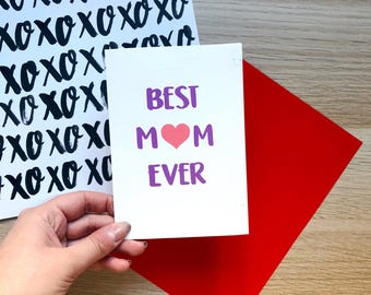 Best Mum Ever Card / Mother's Day Card / Mothers Day Card /Mum Birthday Card / Mum Thanks Card / New Mum Card / Card For Mum / New Baby Card
