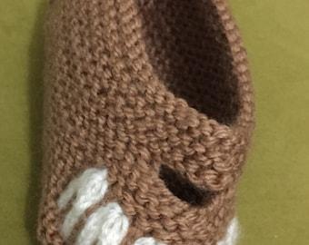 Slipper//shoes//Handmade knitting slipper //ready to send