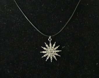 Blinged out star charm necklace