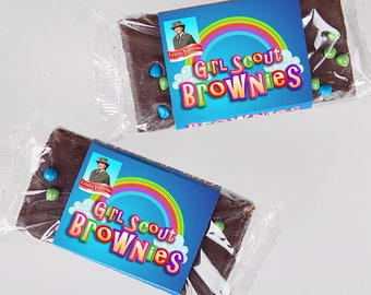 Instant Download! - Brownie Scouts - Customizable Little Debbie Brownie Wrapper - Girl Scout Bridging Ceremony - Girl Scouts, Brownies