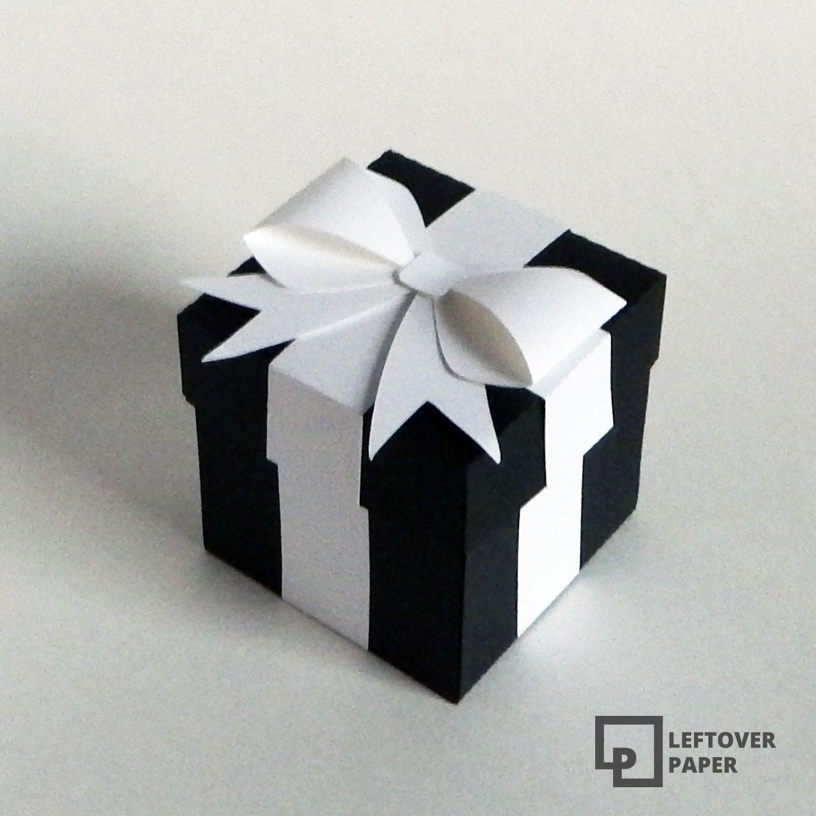 Black and White Favor Box Wedding Favor Boxes Black Favor