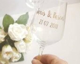Personalised Wine Glass, Bridesmaid Glass, Wedding Glass, Bride Glass, Bridal Party Glsss, Custom Wedding Glasses